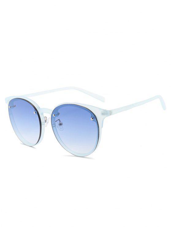 Lunettes de soleil anti-UV à couleur dégardée - Bleu clair