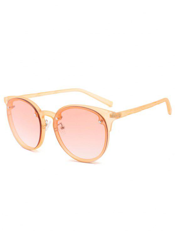 fancy Ramp Shader Anti UV Sunglasses - PEARL KUMQUAT