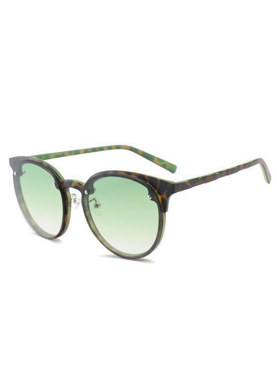 affordable Ramp Shader Anti UV Sunglasses - GREEN