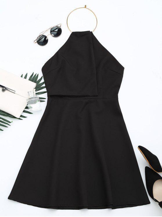 فستان مفتوحة الظهر رسن توهج - أسود XL