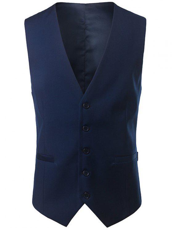 معطف الصدرية غارق الرقبة - طالبا الأزرق L