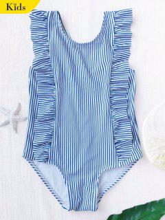 Ruffled Striped Kid Swimwear - Stripe 4t