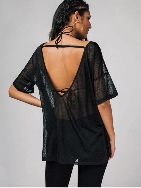 Tissu semi-fini surdimensionné - Noir XL Mobile