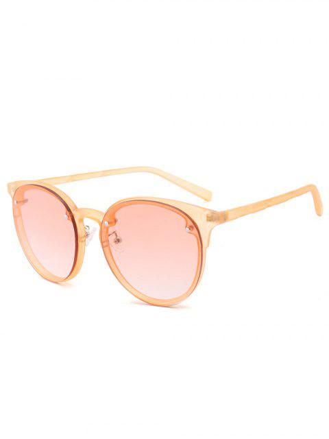 fancy Ramp Shader Anti UV Sunglasses - PEARL KUMQUAT  Mobile