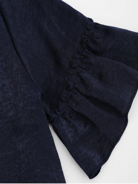 Ensemble flasque à manches courtes et à shorts - Bleu Violet S Mobile