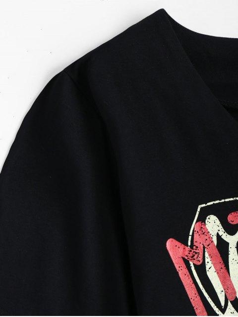 T-shirt avant en cuir V Neck - Noir TAILLE MOYENNE Mobile