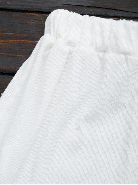 Ensemble à deux pièces top découpé et shorts - Blanc XL Mobile