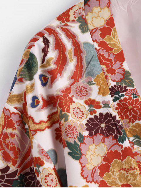 Chemisier en kimono floral ouvert devant - Floral L Mobile
