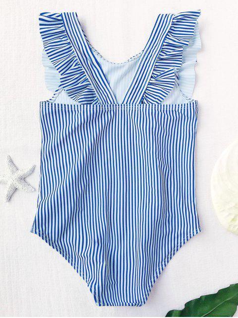 sale Ruffled Striped Kid Swimwear - STRIPE 4T Mobile