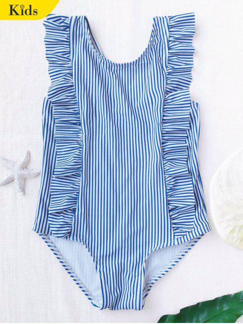 buy Ruffled Striped Kid Swimwear - STRIPE 6T Mobile