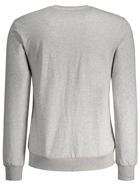 women's Side Panel Two Tone Cotton Sweatshirt - GRAY M Mobile
