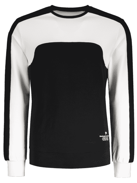 new Two Tone Panel Cotton Sweatshirt - BLACK XL Mobile