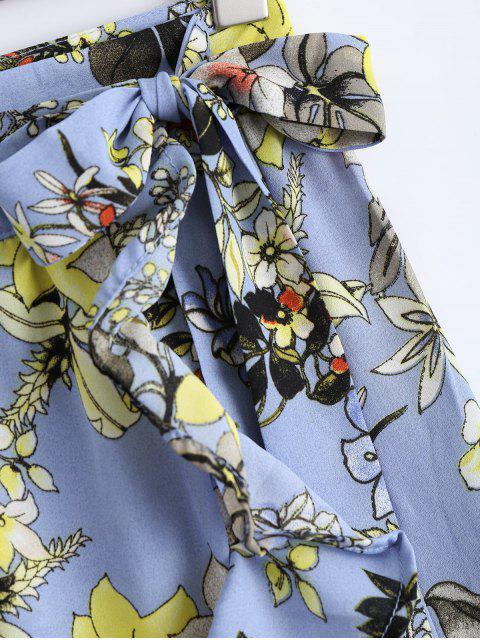 Jupe asymétrique à enveloppes florales - Floral S Mobile