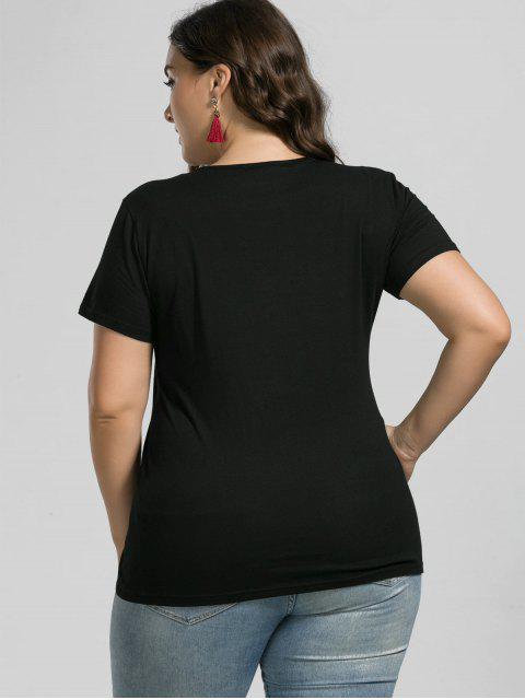 Haut brodé Grue granulométrique - Noir XL Mobile