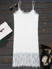 Lace Panel Knitted Cami Dress