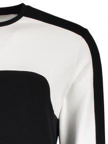 Camiseta Tonos 243;n Dos Panel De M Algod De De Negro rqrS4