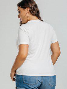 Tallas Con De Largas Algod 243;n Camiseta 4xl Blanco Sqw7Paxpxn