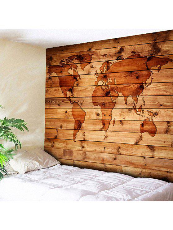 World map wall hanging wood grain tapestry rosewood wall art w79 women world map wall hanging wood grain tapestry rosewood w79 inch l71 inch gumiabroncs Images