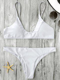 Bikini Paddé à Bretelles Spaghetti  - Blanc S