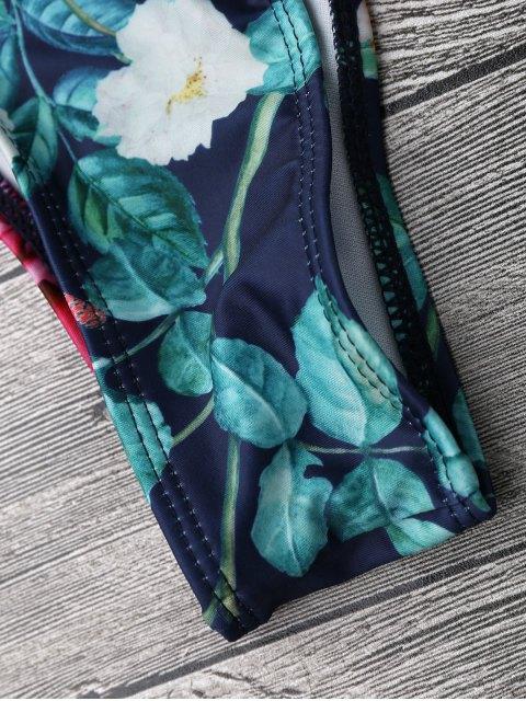 best Garden Print Off The Shoulder Bikini Set - FLORAL S Mobile