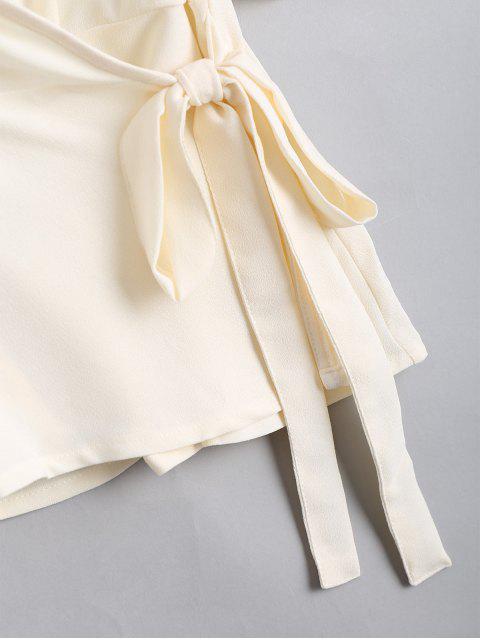 Top Cache Coeur à Volants Brodé Floral - Blanc Cassé L Mobile