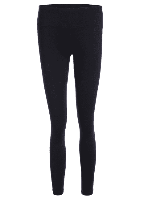ladies Cut Out Bowknot High Waisted Sporty Leggings - BLACK L Mobile