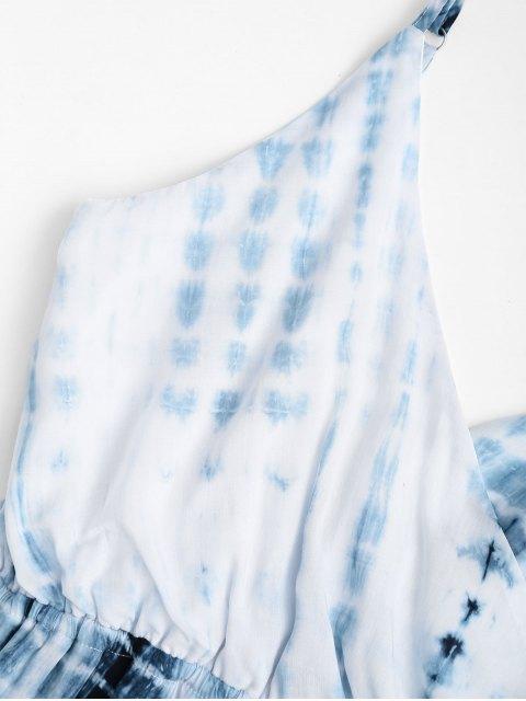 Cami Tie Dyed Surplice Cover Up Romper - Multicolore L Mobile