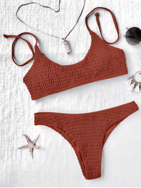 Ensemble de bikini plissé paddé - Tangerine S Mobile