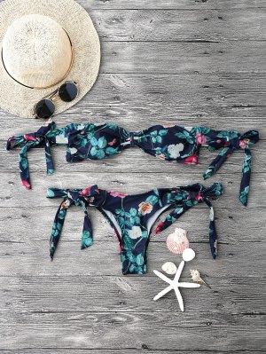 Impresión De Jardín Fuera Del Conjunto De Bikini Hombro - Floral L