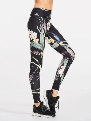 Leggings deportivos florales adelgazantes