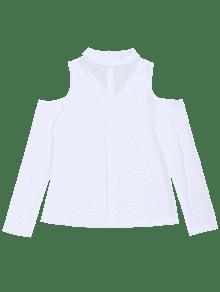 Corta Fr Camiseta Blanco Hombros Con Rayas Xl A 237;os De Punto 4dxwfdqp
