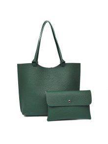 حصاة بو الجلود حقيبة الكتف و حقيبة كروسبودي - أخضر