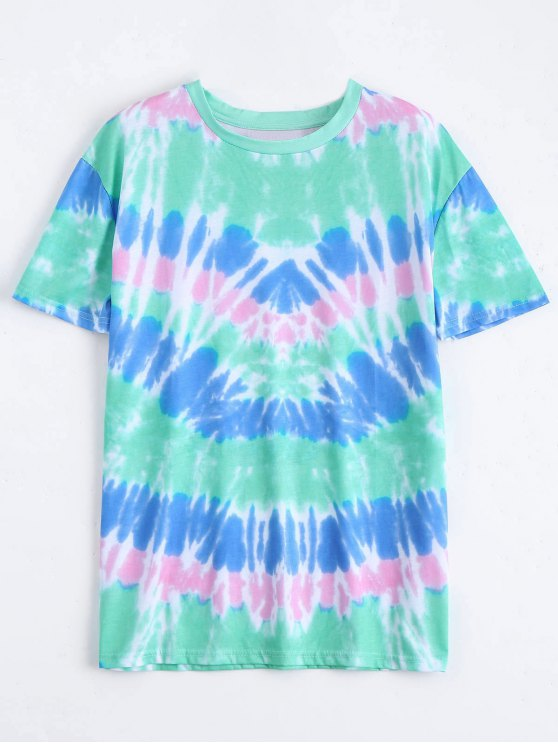 fashion Loose Cotton Space Dye Top - COLORMIX M