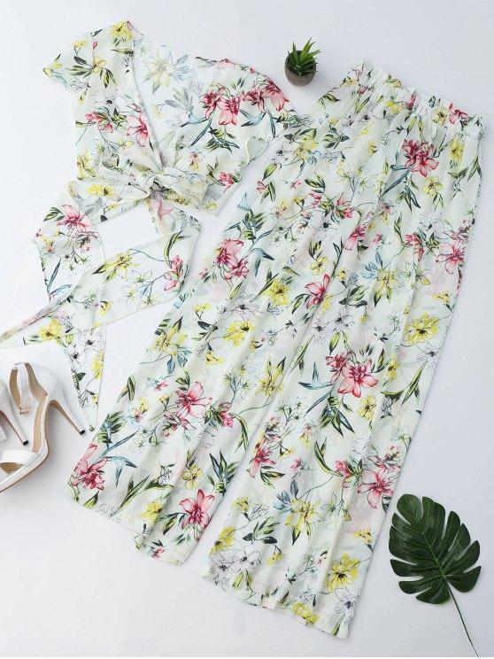 Pantalones de pantalón ancho - Floral S