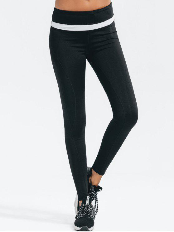 Slimming High Elastic Workout Leggings - Noir L