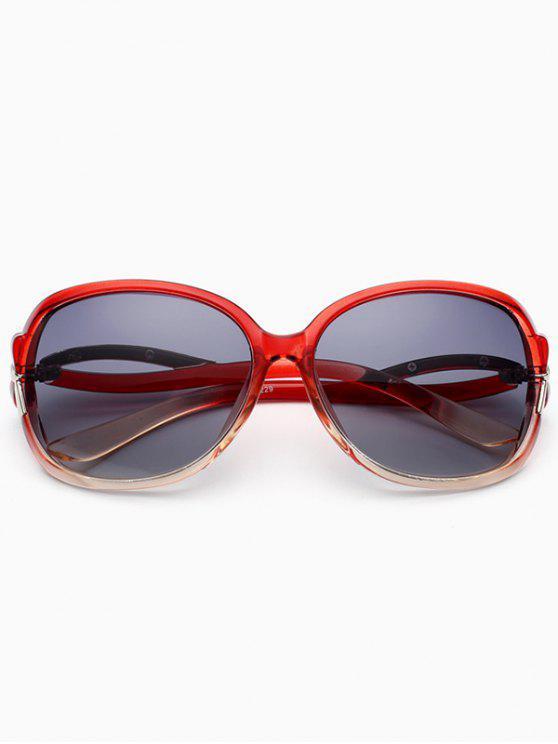 Gafas de sol anti-UV de corte hueco - Vino Rojo