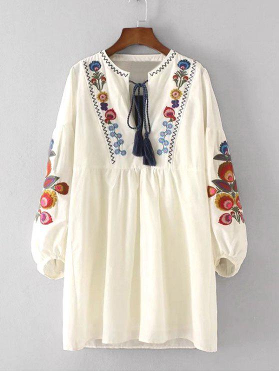 women Floral Patched Dress and Cami Dress Set - PALOMINO L