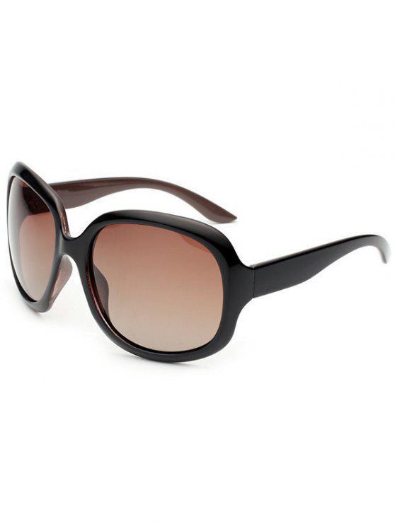 Óculos de sol polarizados com proteção UV à prova de sol - Café