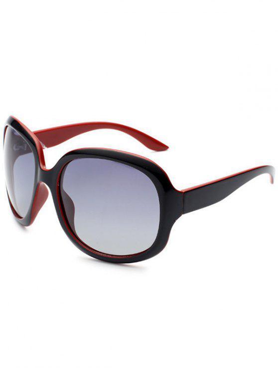 fashion Sunproof UV Protection Polarized Sunglasses - BLACK RED
