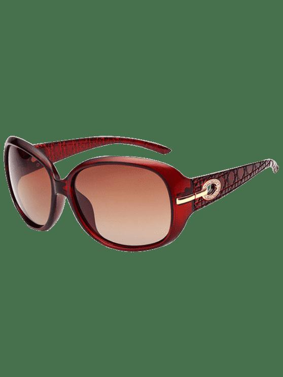 حجر الراين الديكور أوف حماية النظارات الشمسية - شفاف أصحر الإطار + أصحر الزئبق عدسة