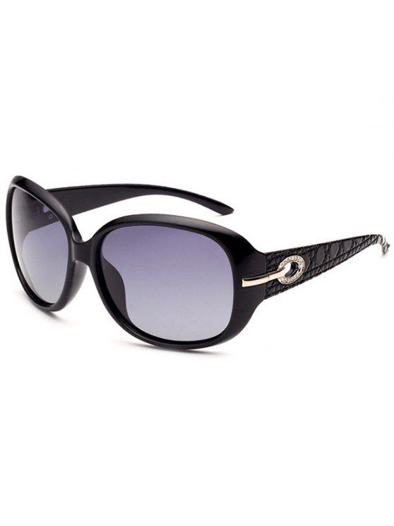 affordable Rhinestone Decoration UV Protection Sunglasses - PHOTO BLACK