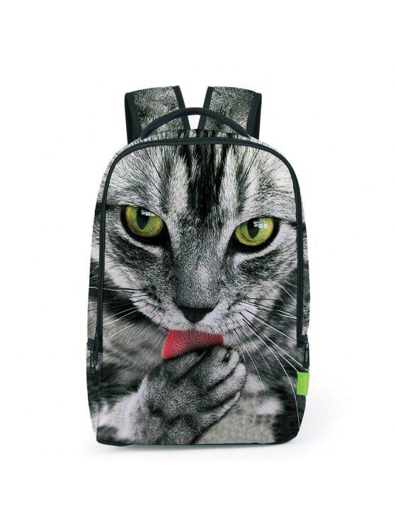 womens 3D Animal Print Backpack - GRAY