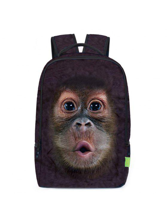 3d الحيوان طباعة حقيبة الظهر - بنى