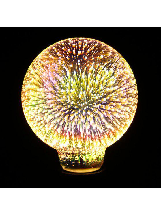 3d الملونة الألعاب النارية زجاج ليد ليلة ضوء لمبة الزخرفية - ملون E27