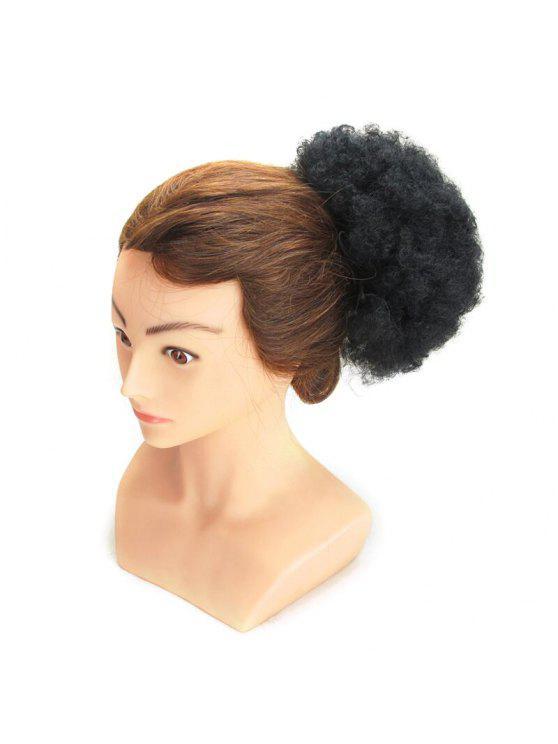 أشعث الأفرو غريب مجعد الشعر الاصطناعية كعكة - أسود