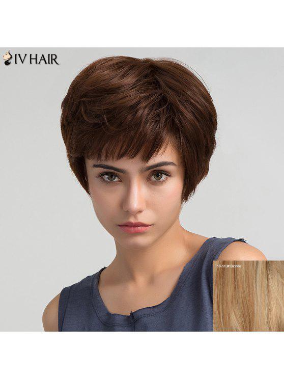 الجانب بانغ قصيرة على التوالي شعر مستعار الإنسان - شقراء