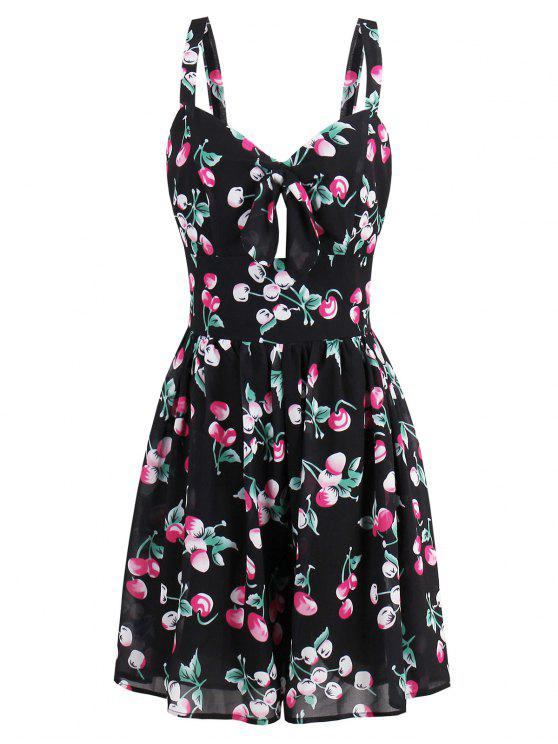 فستان الصيف توهج طباعة قصير - Colormix M