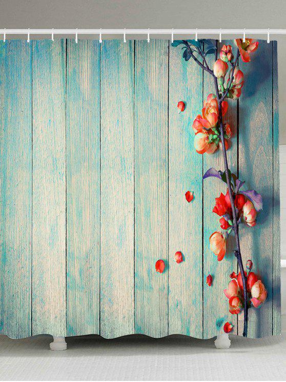 خمر الخشب الحبوب الأزهار ماء دش الستار - الضوء الأزرق W79 INCH * L79 INCH