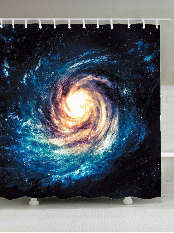 الكون الفضاء ستار مطبوعة ماء دش الستار - ازرق غامق W71inch*L79inch