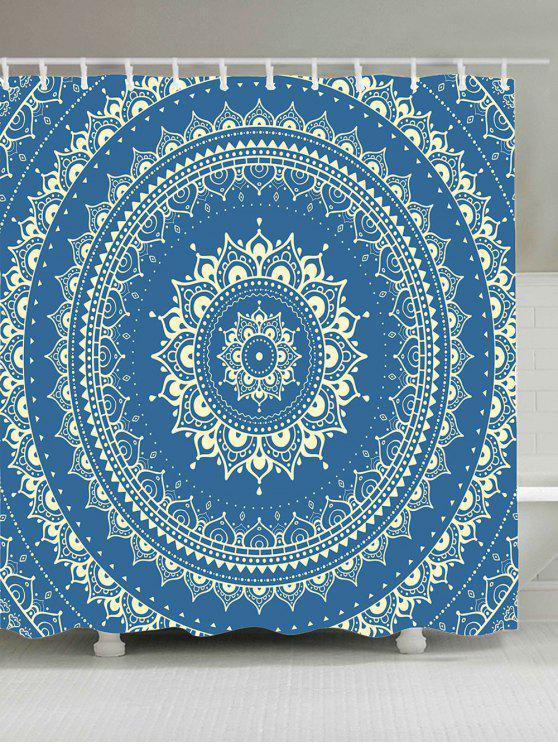 بوهيمينا ماندالا الزهور للماء دش الستار - الضوء الأزرق W65 بوصة * L71 بوصة
